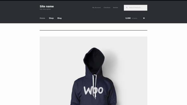 Basic WordPress Online Store screenshoot