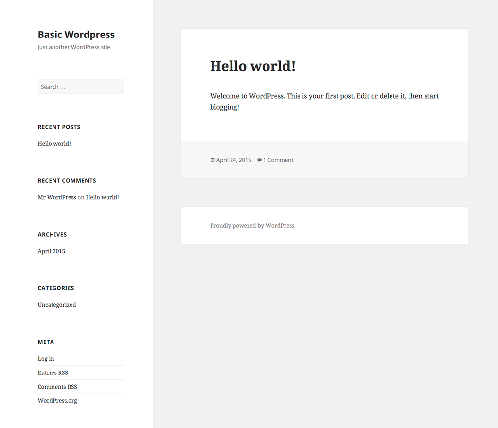 Basic-WordPress - Home
